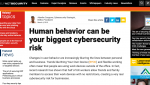Human behavior as the biggest cybersecurity-risk