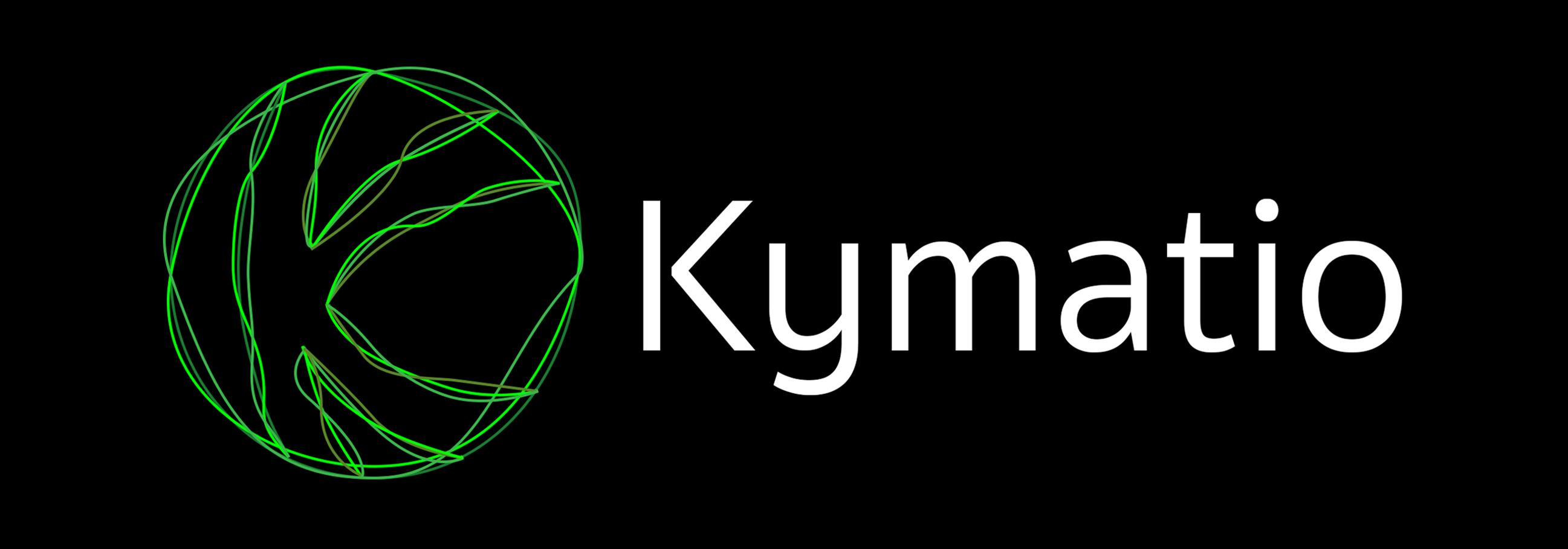 Kymatio logo Black BG