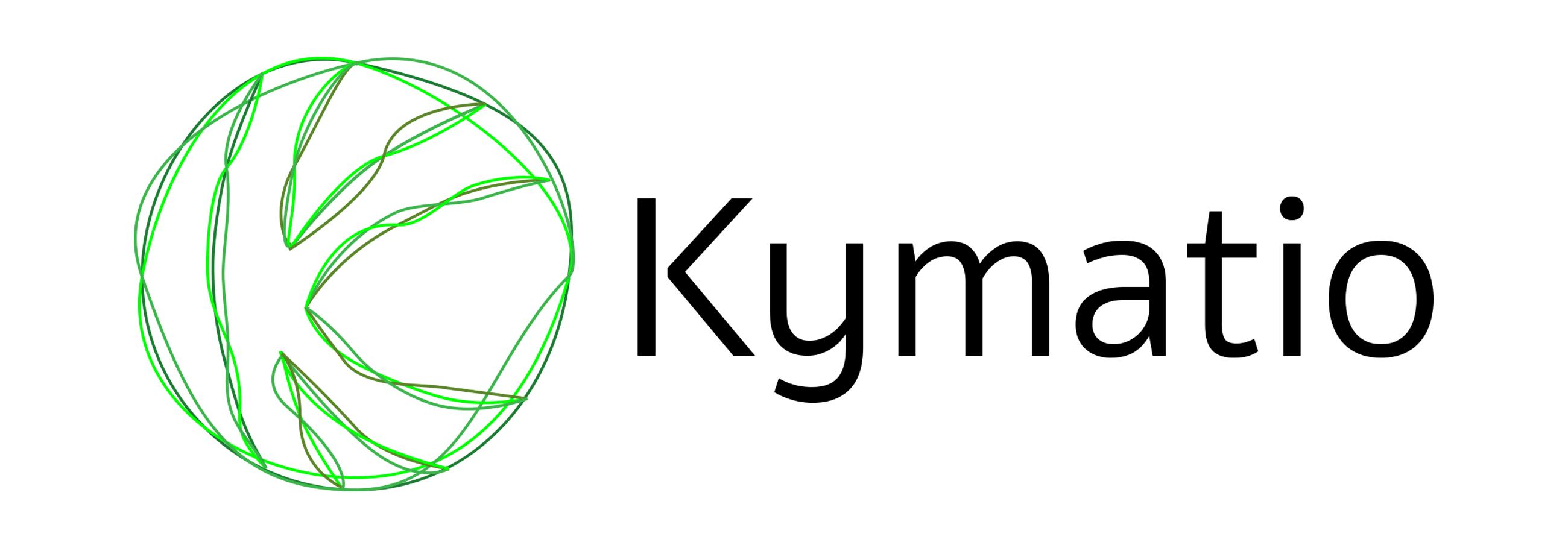 Kymatio logo White BG