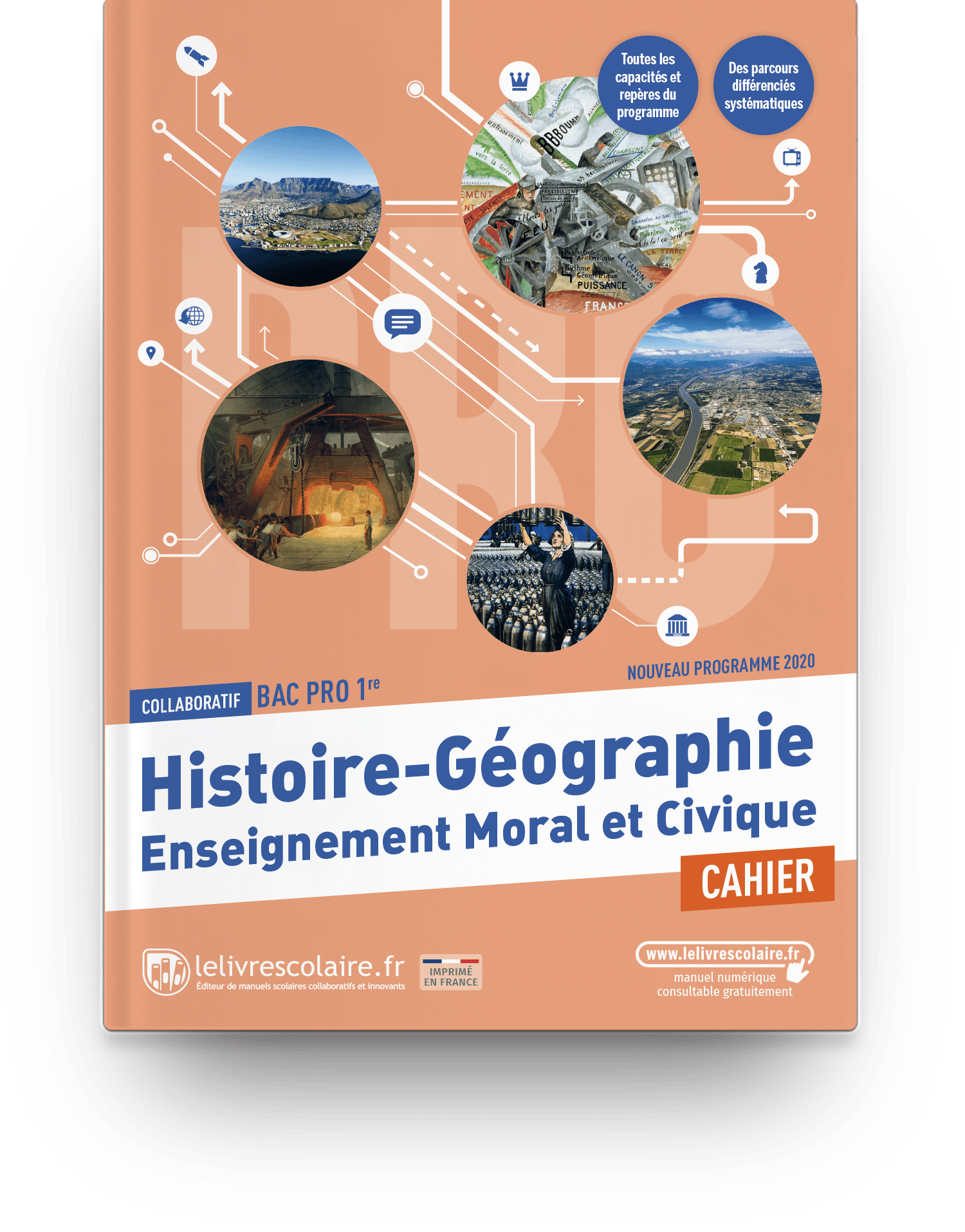 Image produit Histoire-Géographie-EMC 1re bac pro - Cahier