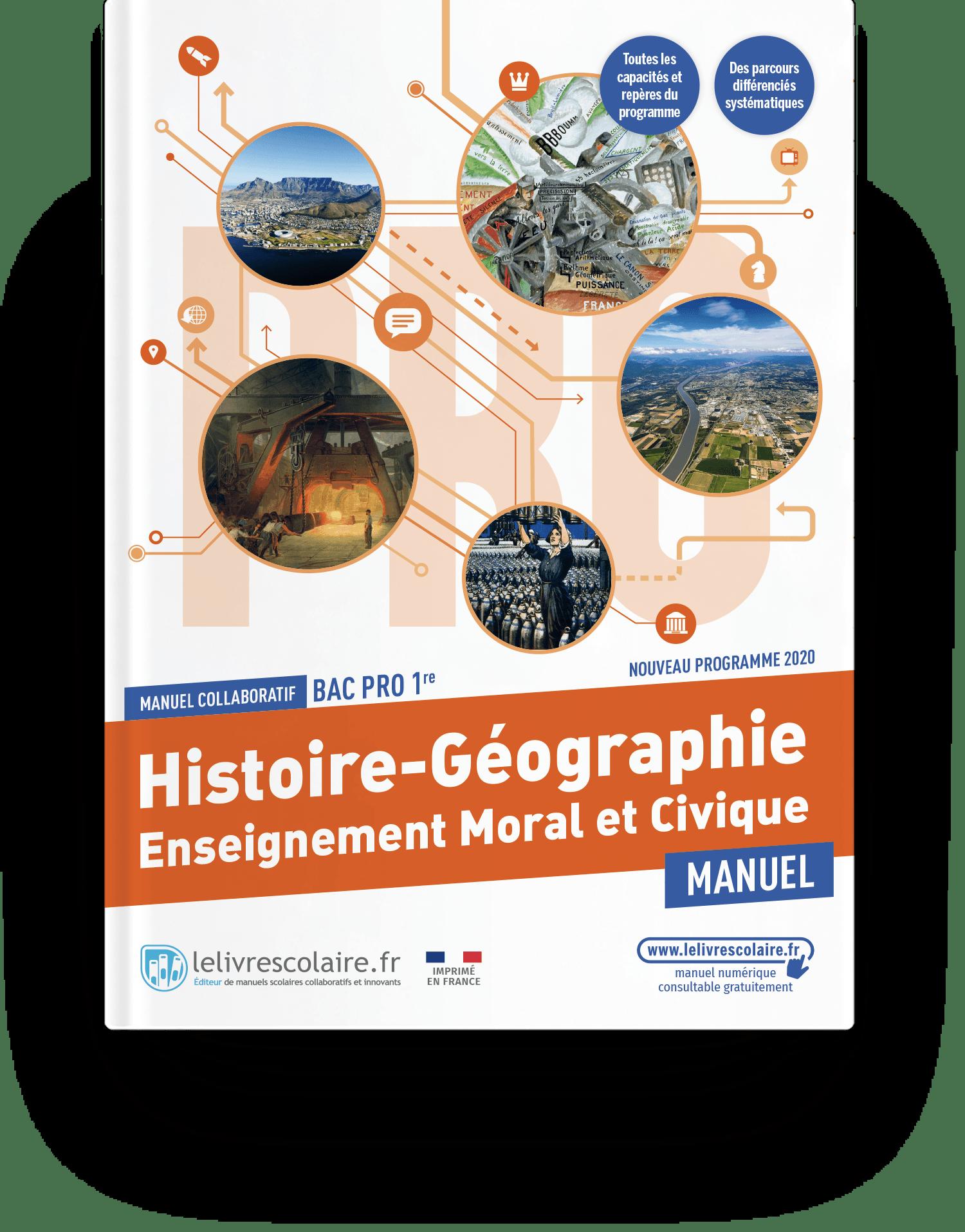 Image produit Histoire-Géographie-EMC 1re bac pro - Manuel