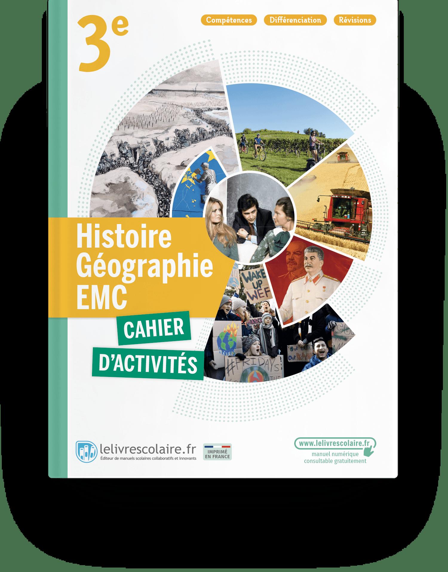 Image produit Histoire-Géographie-EMC 3e - Edition 2021 - Cahier