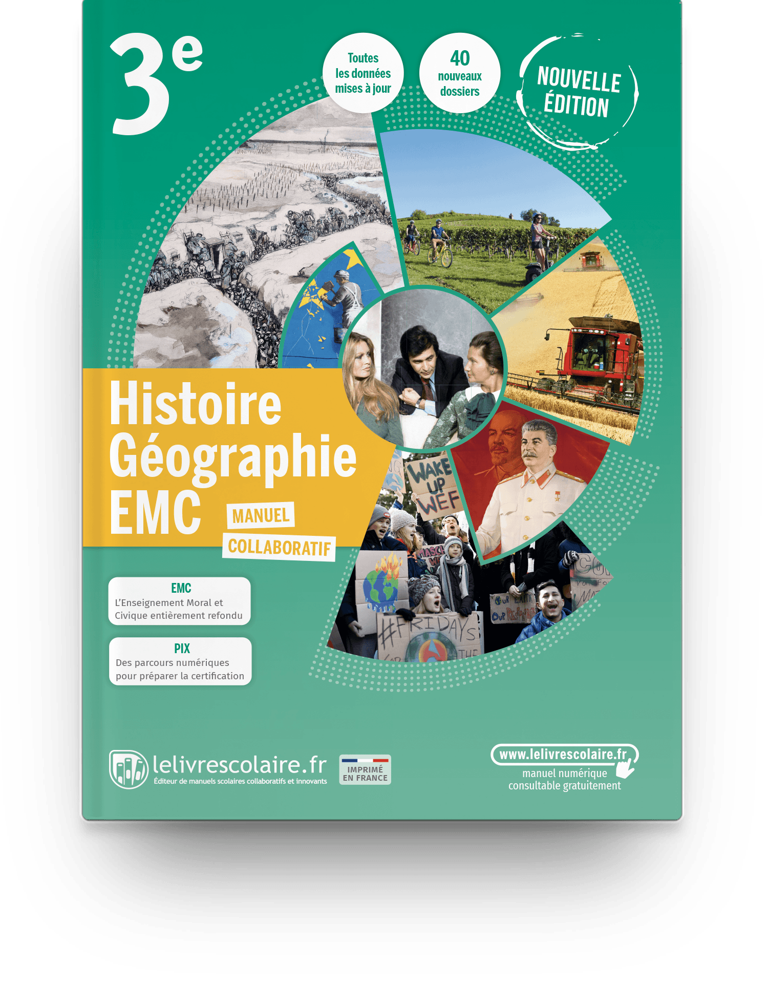 Image produit Histoire-Géographie-EMC 3e - Edition 2021 - Manuel