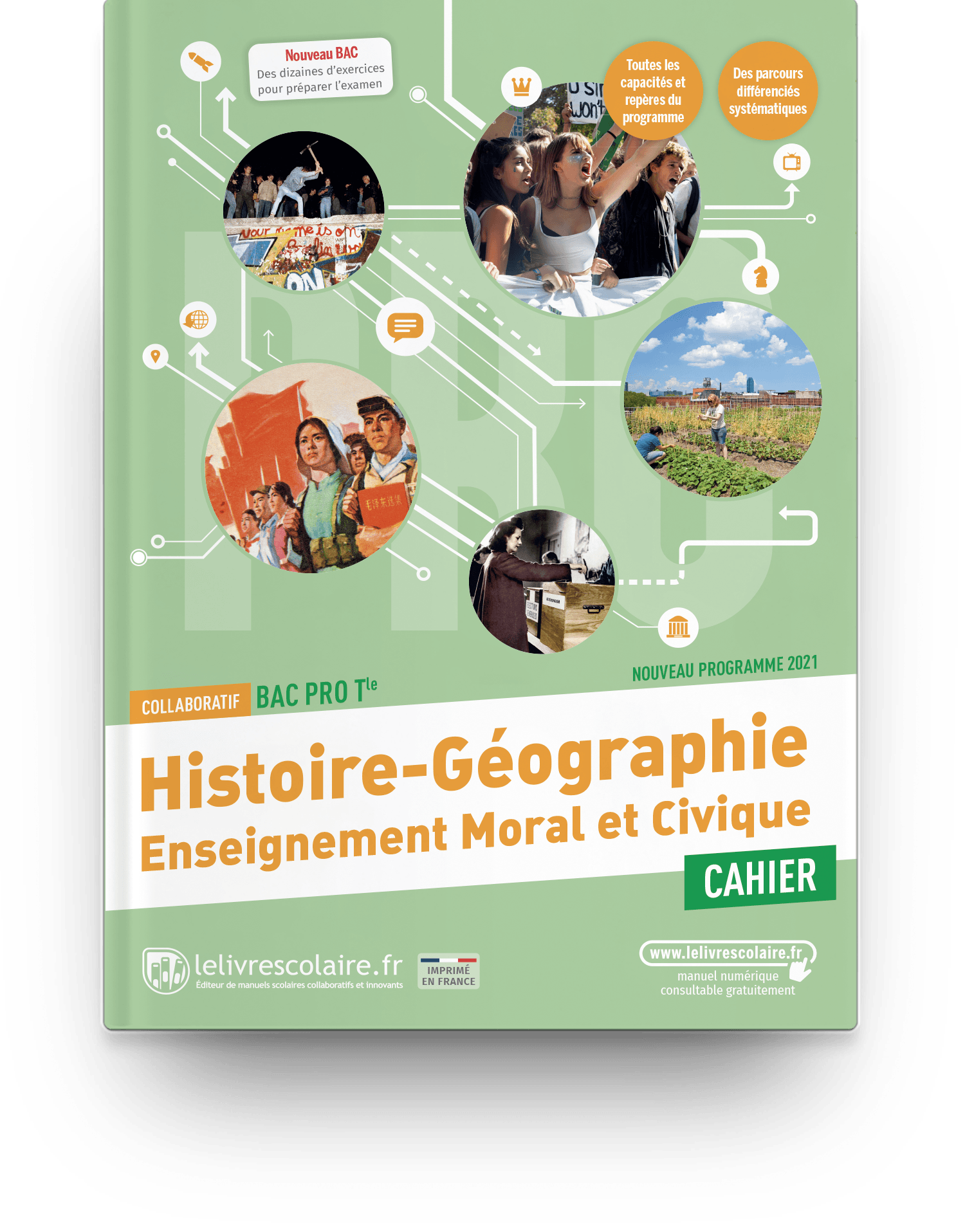 Image produit Histoire-Géographie-EMC Tle bac pro - Cahier