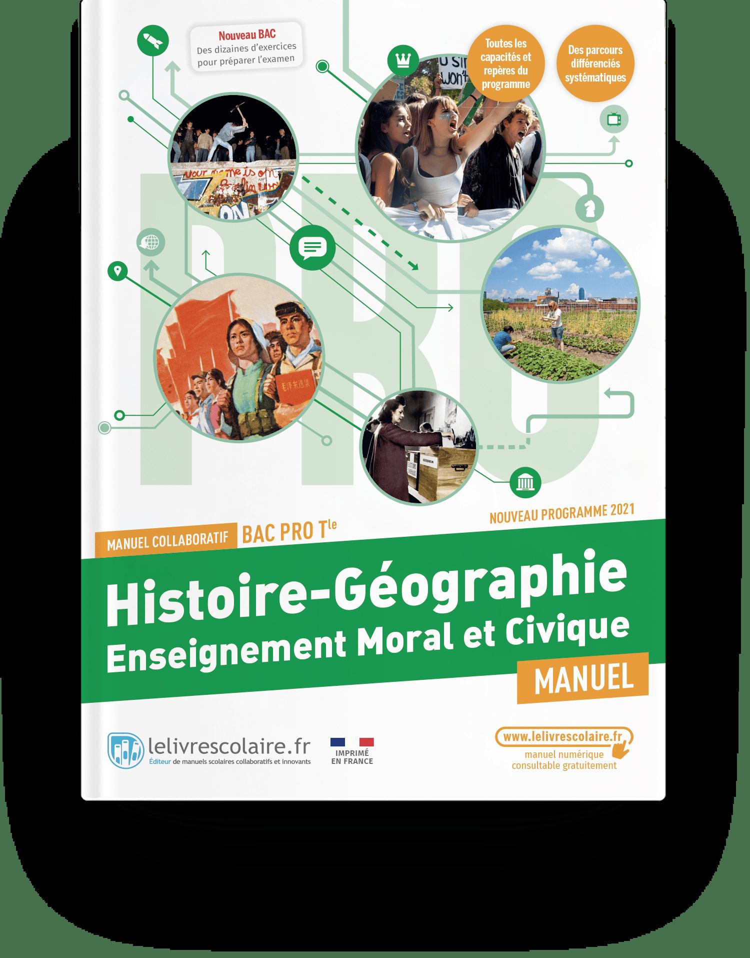 Image produit Histoire-Géographie-EMC Tle bac pro - Manuel
