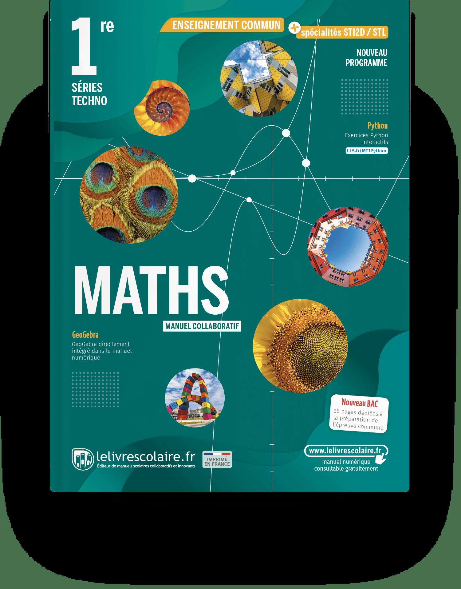 Image produit Mathématiques 1re Techno - Manuel élève