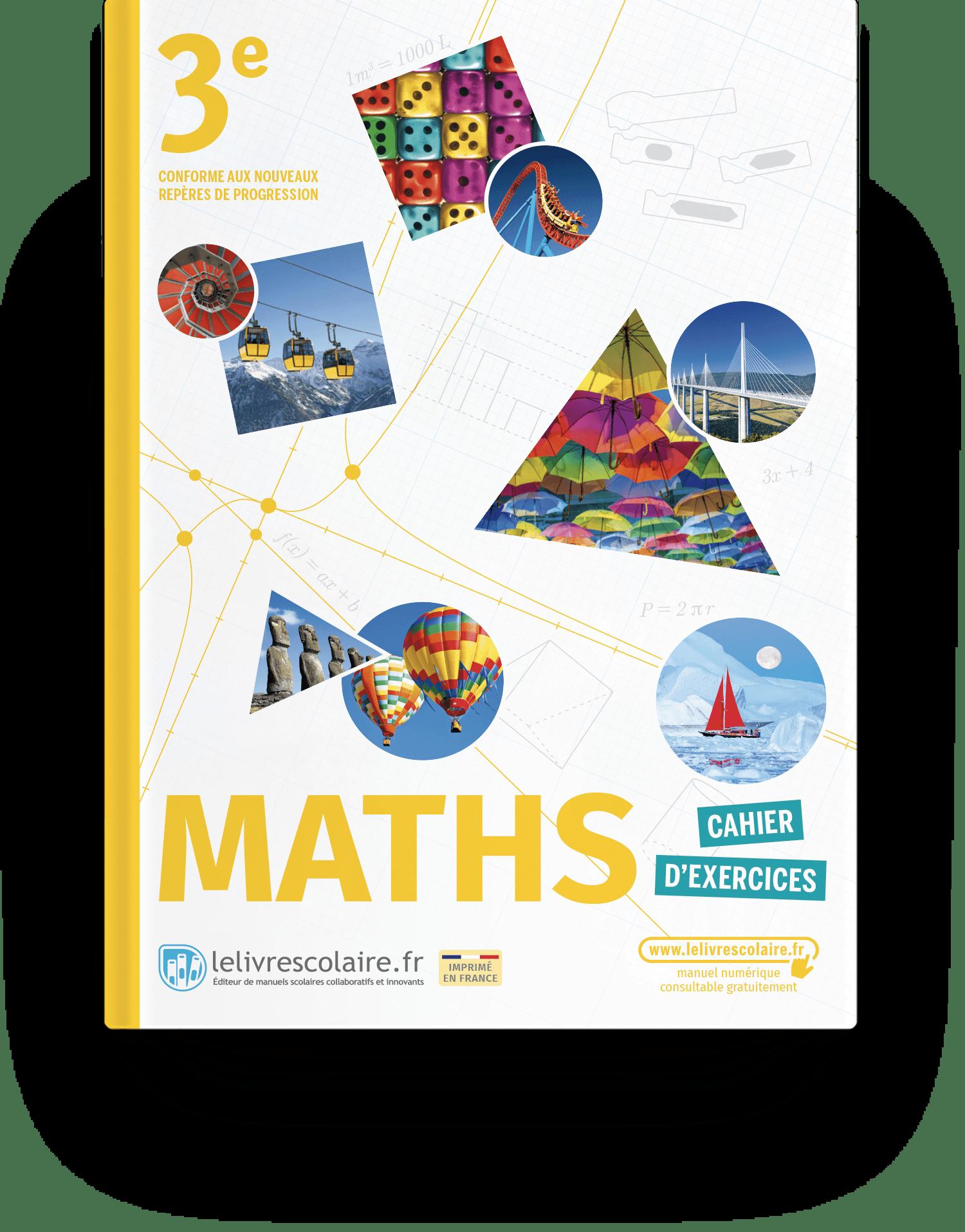 Image produit Mathématiques 3e - Edition 2021 - Cahier