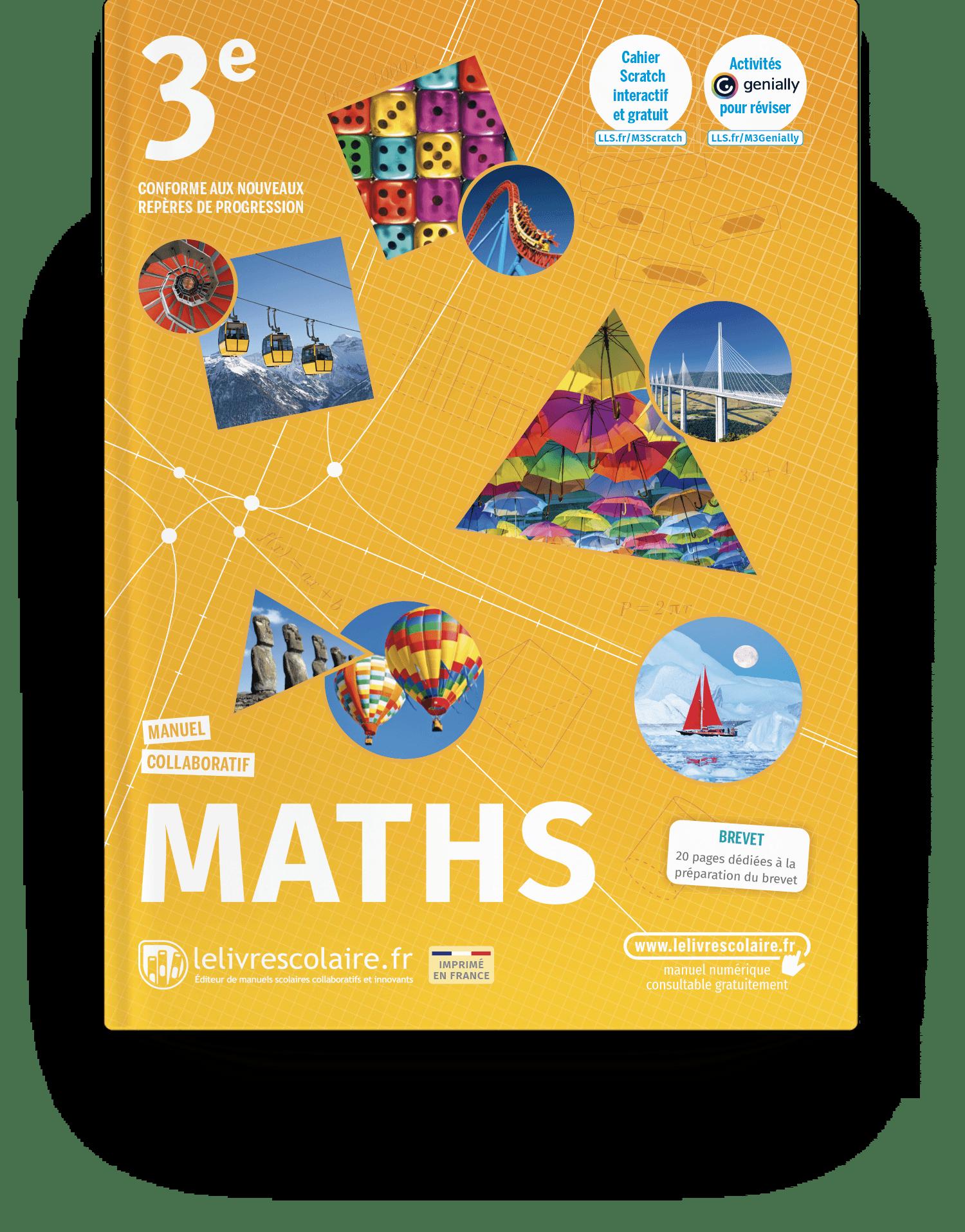 Image produit Mathématiques 3e - Edition 2021 - Manuel
