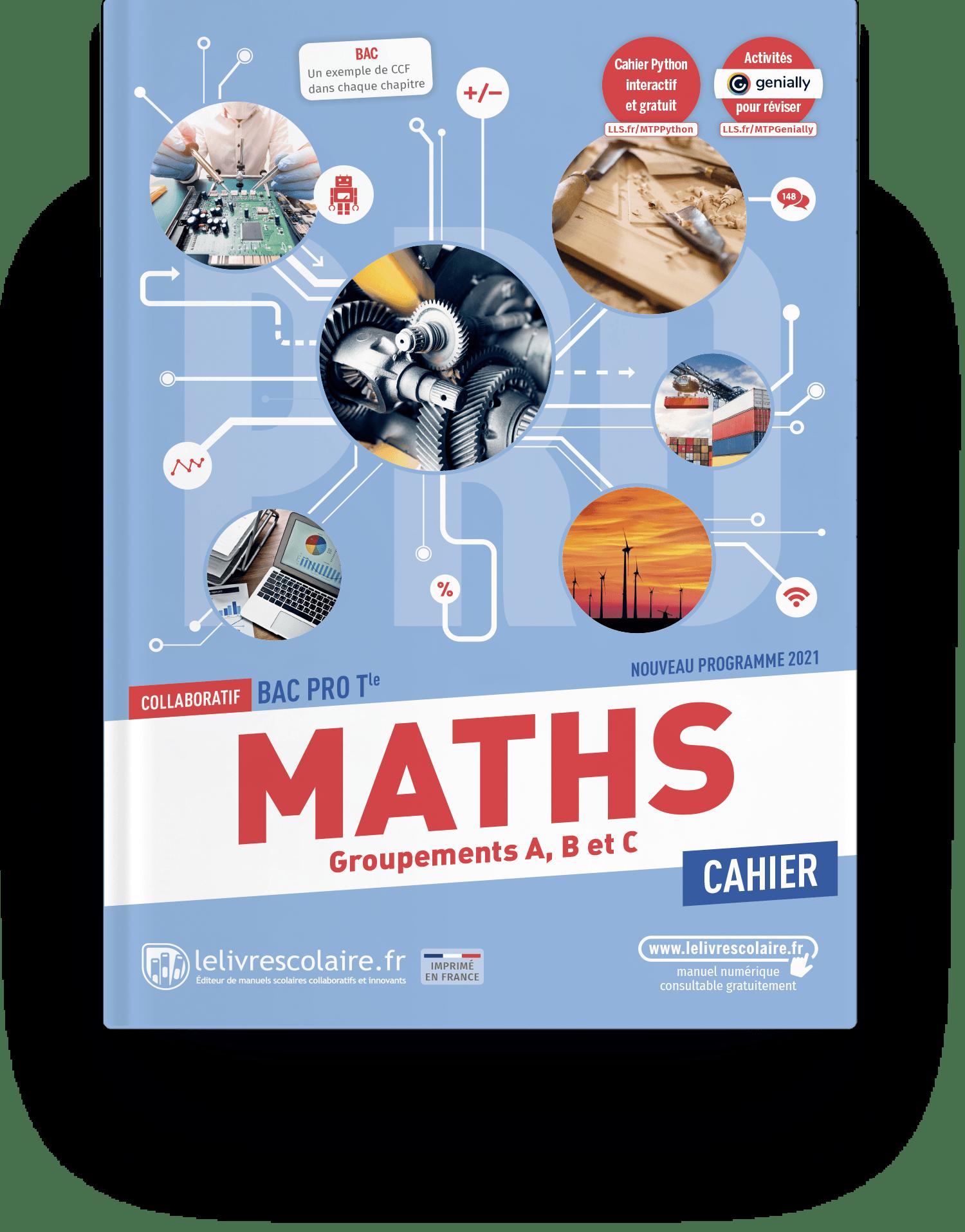 Image produit Mathématiques Tle bac pro - Cahier