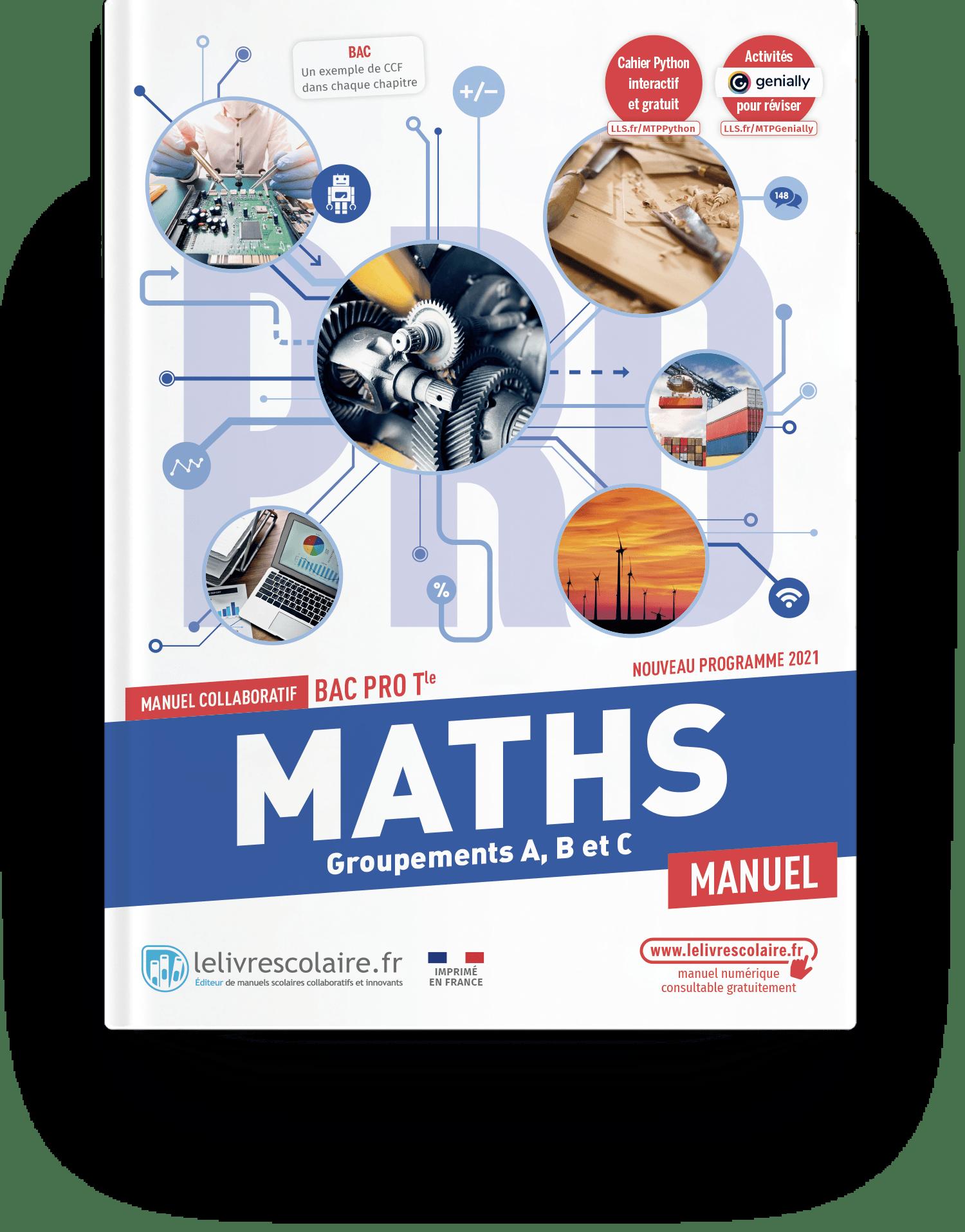 Image produit Mathématiques Tle bac pro - Manuel