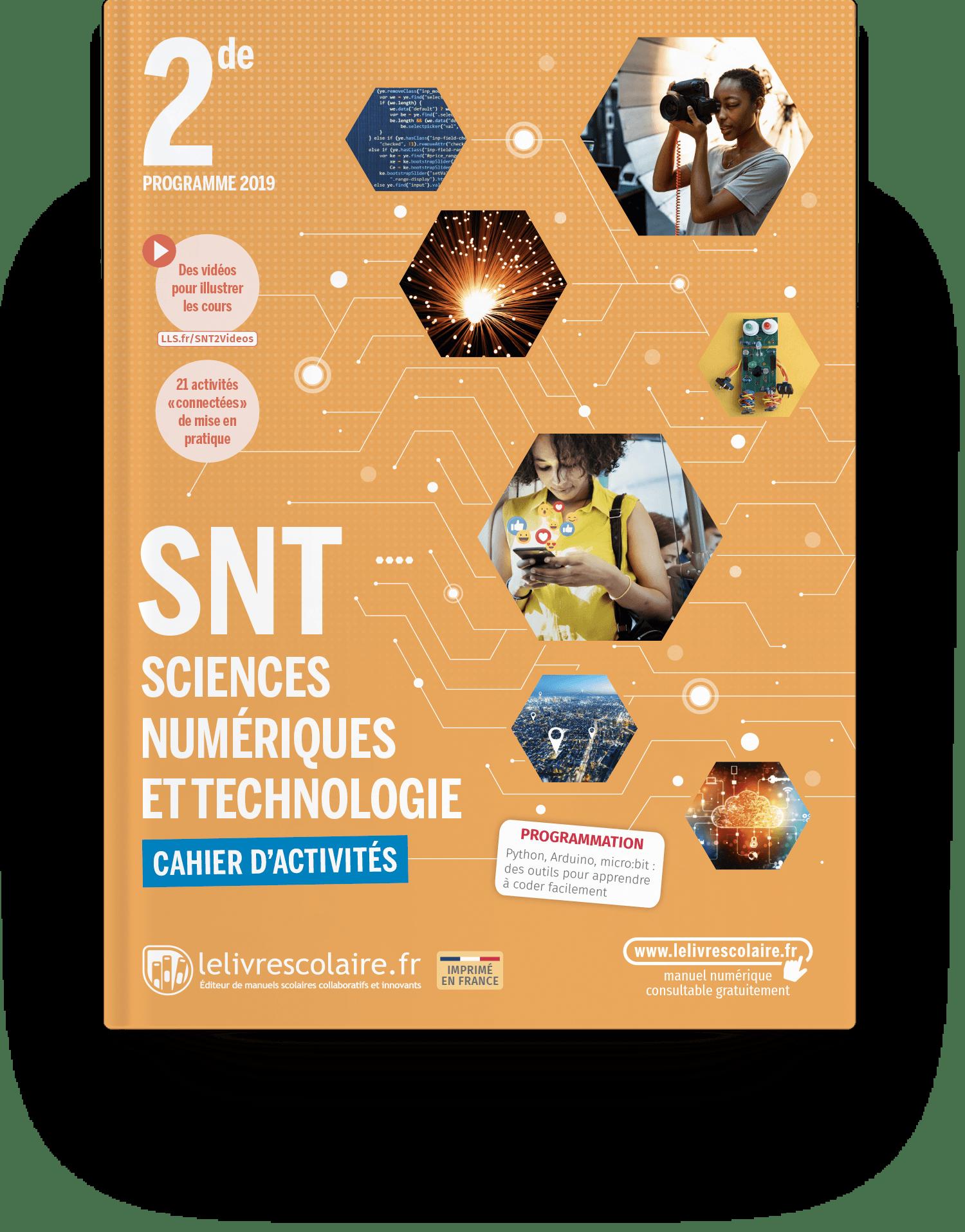 Image produit Sciences Numériques et Technologie 2de - Cahier