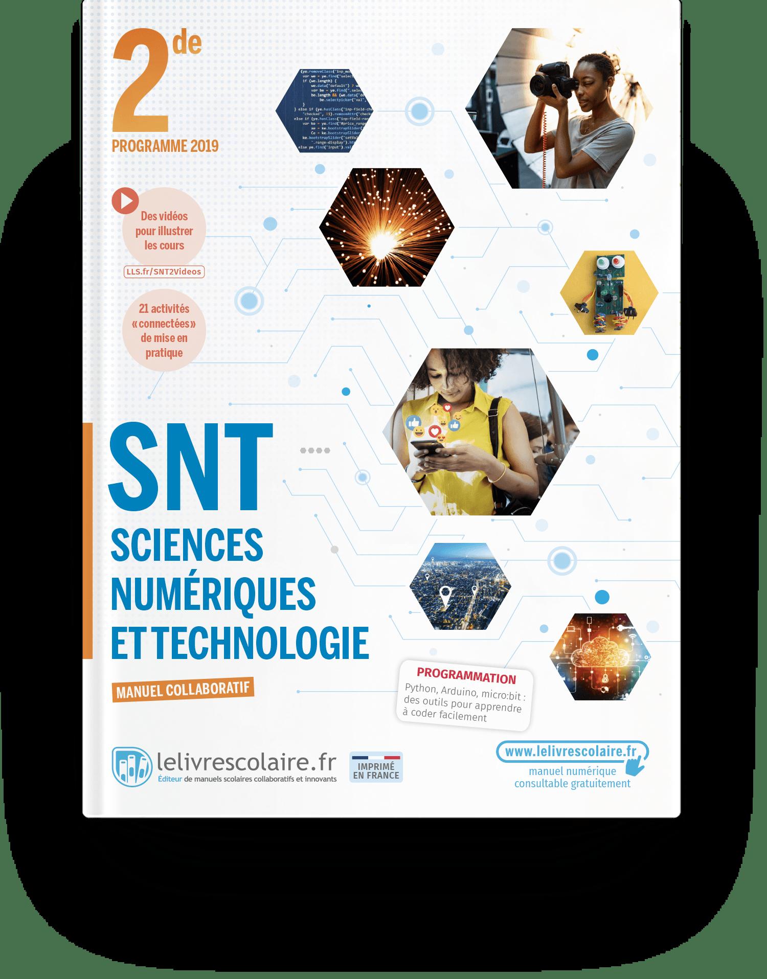 Image produit Sciences Numériques et Technologie 2de - Manuel