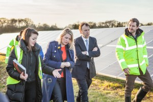 Lightsource's Kate Baxter speaks with Mims Davies and Matthew Hancock MP