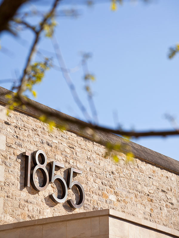1855 wine bar signage and brand identity created by Prosper