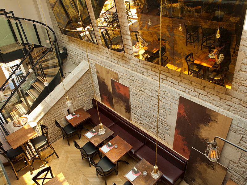 Interior design for Oxford wine bar bistro created by Prosper