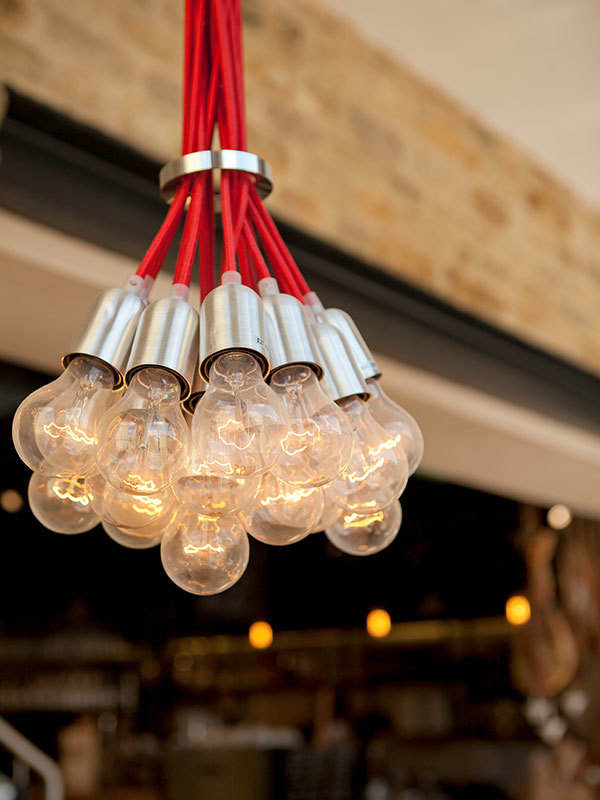 Interior lighting for wine bar bistro 1855 created by Prosper