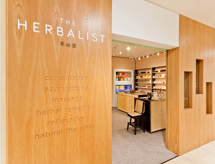Herbal remedy store interior design by Prosper