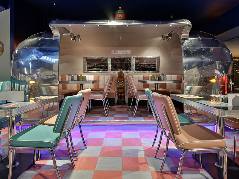 Bespoke Airstream restaurant seating designed by Prosper