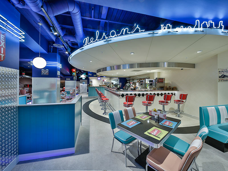 Authentic 1950s diner created by Prosper