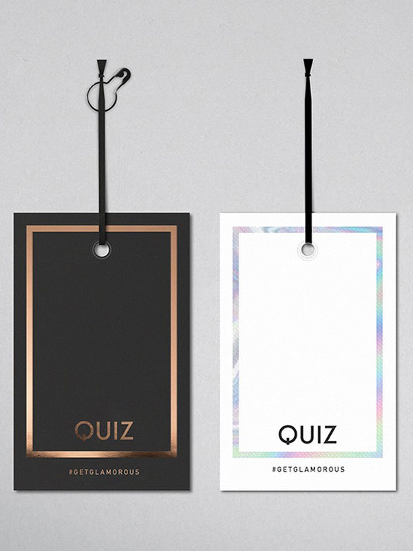 Clothing tags for fashion retailer Quiz created by Prosper