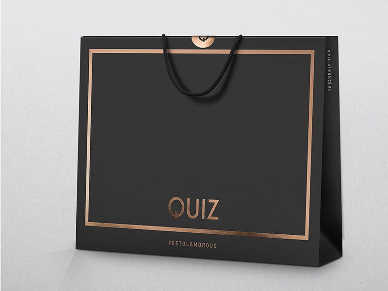 Carrier bags for fashion retailer Quiz designed by Prosper