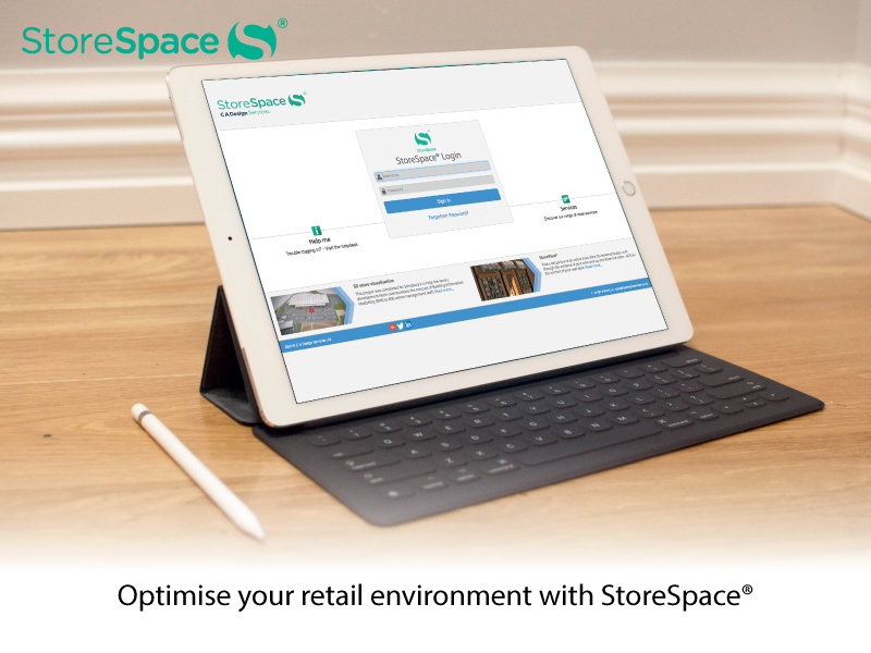 Image of StoreSpace specialist software application from C A Design Services