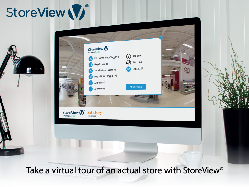 The StoreView app creates a virtual tour of a physical store