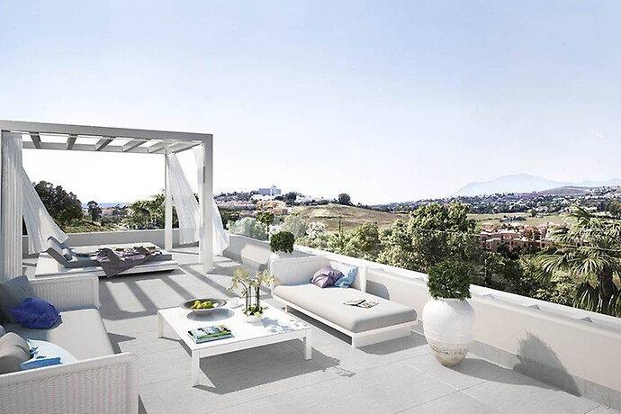 Penthouse til salgs i Estepona