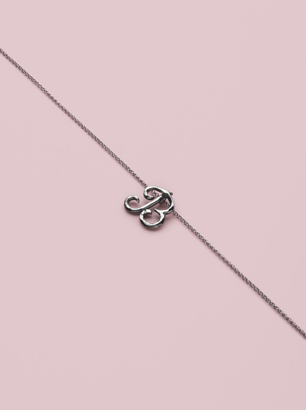 the silver initial pendant product
