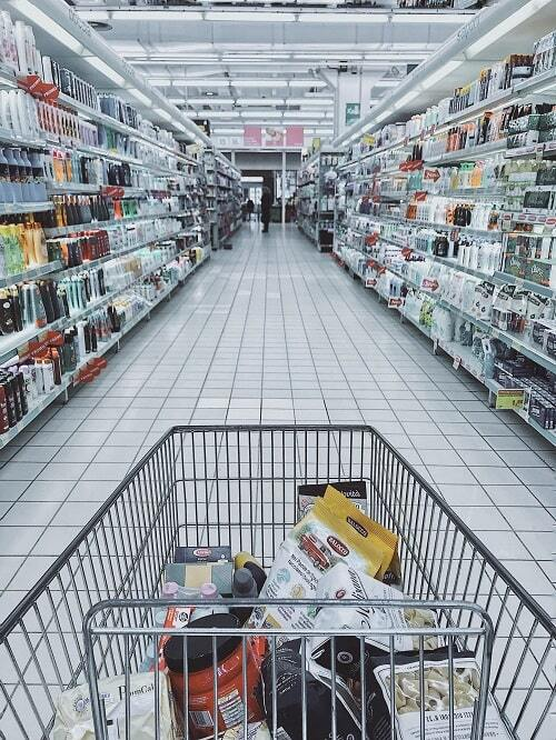 Grocery cart with item min 500