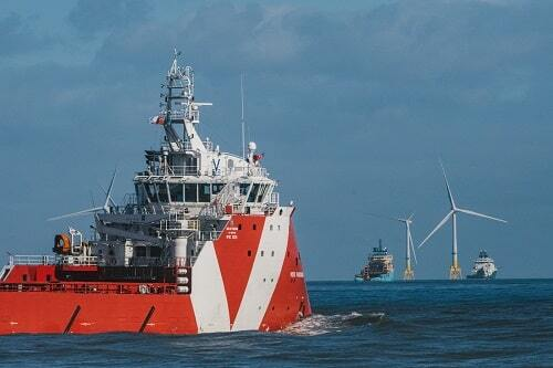 Offshore wind and supply vessels 500 min