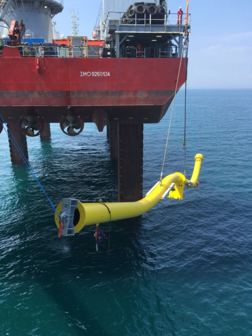 Offshore Wind Substation J-tube Installation