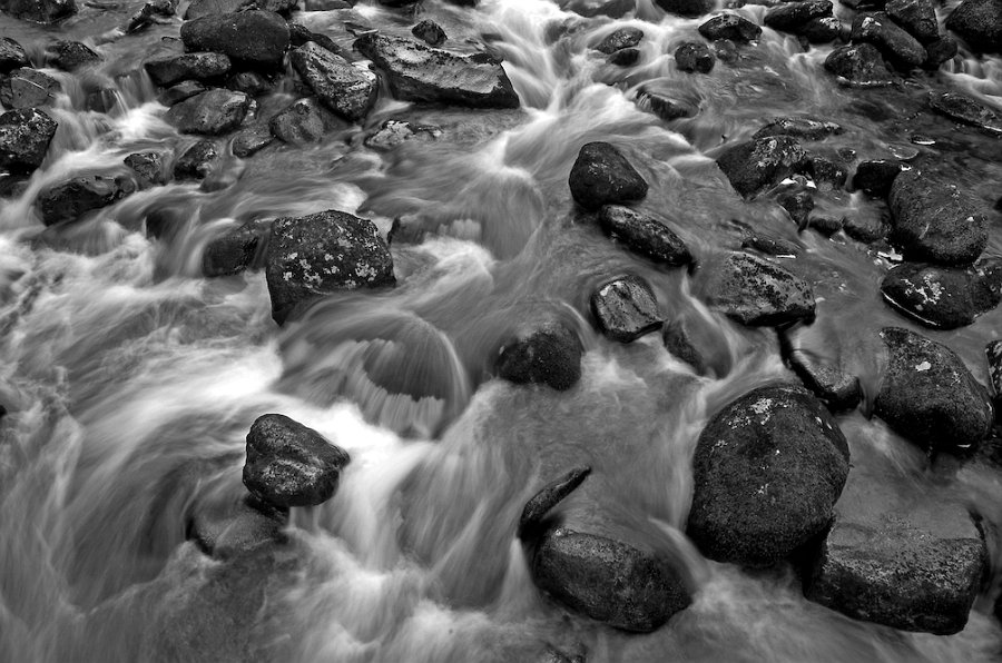 Rocks in a stream on Dartmoor