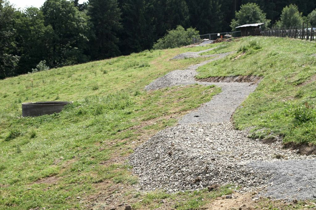 Bau des Pumptrack