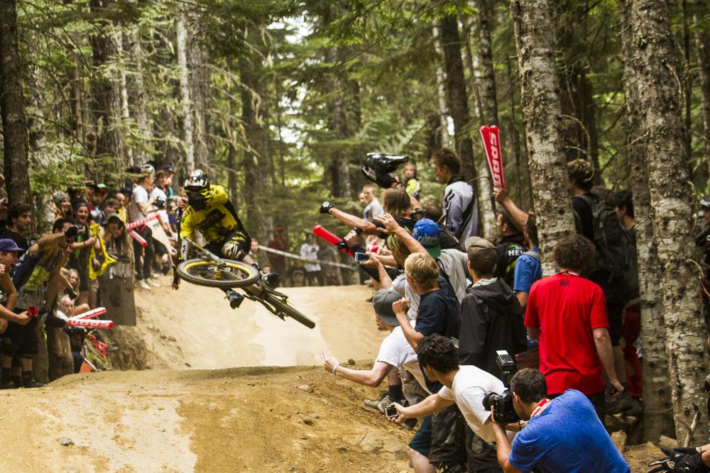 FOX Air DH race beim Crankworx Festival in Whistler