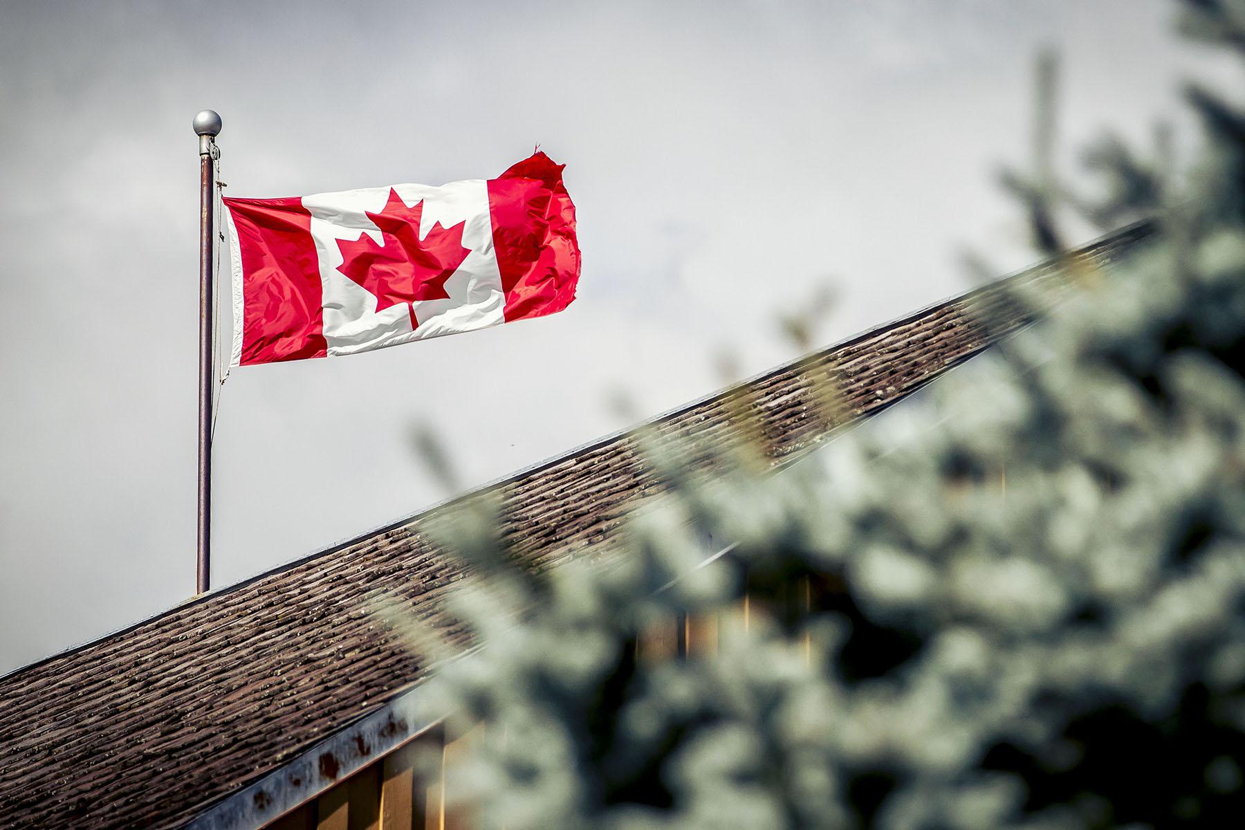 Die kanadische Flagge thronte über dem Rennen!