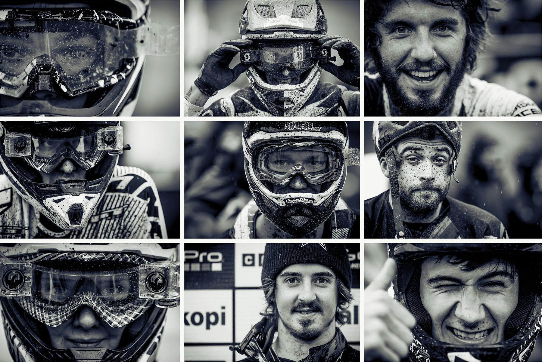 Rennfahrer-Gesichter beschreiben den World Cup am besten: Glücklich, erleichtert, aufgeregt und enttäuscht kommen die Fahrer ins Ziel.