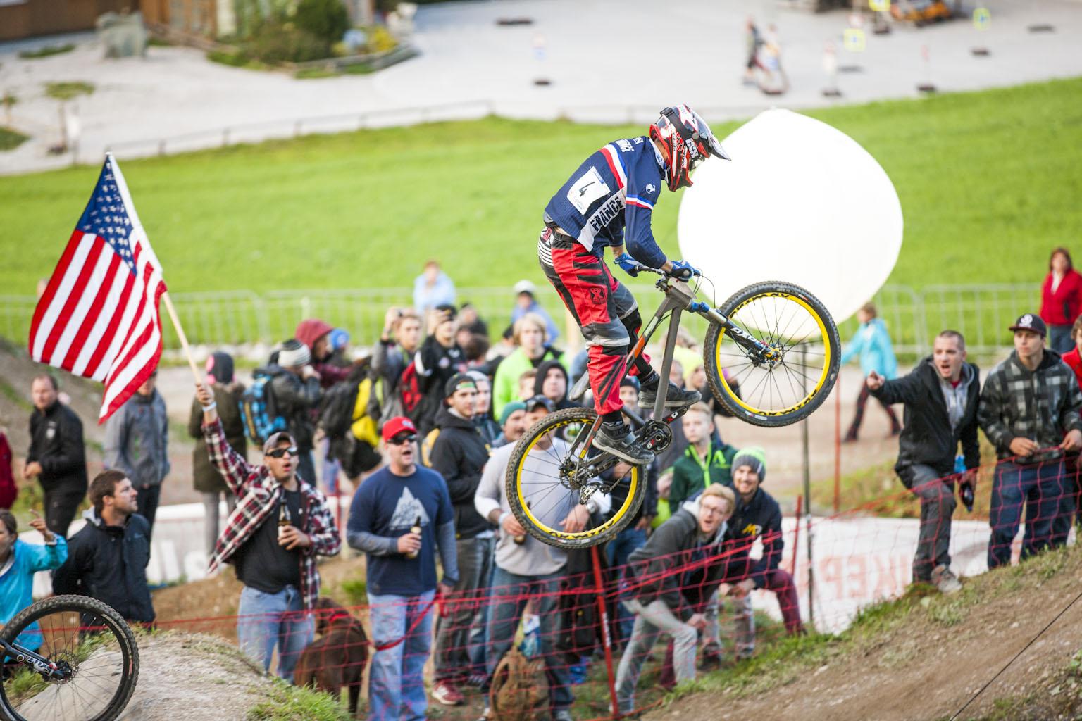 Quentin Derbier auf seinem 4Cross-Bike in Leogang