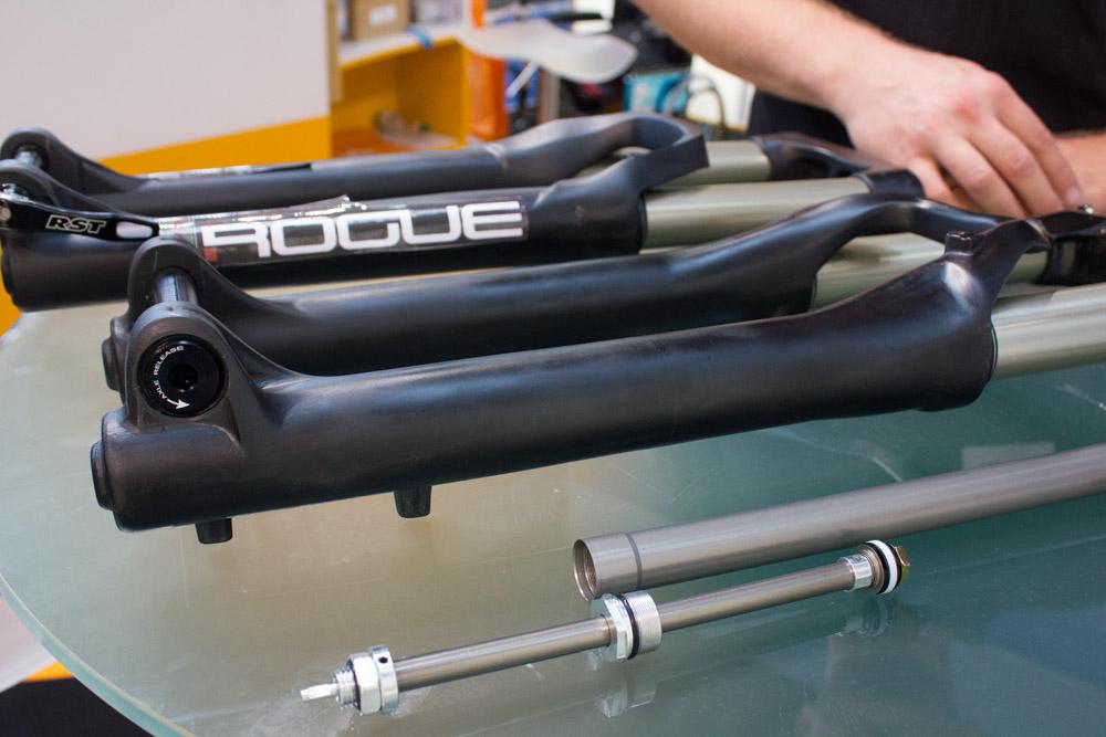 Federgabel Prototypen von RST