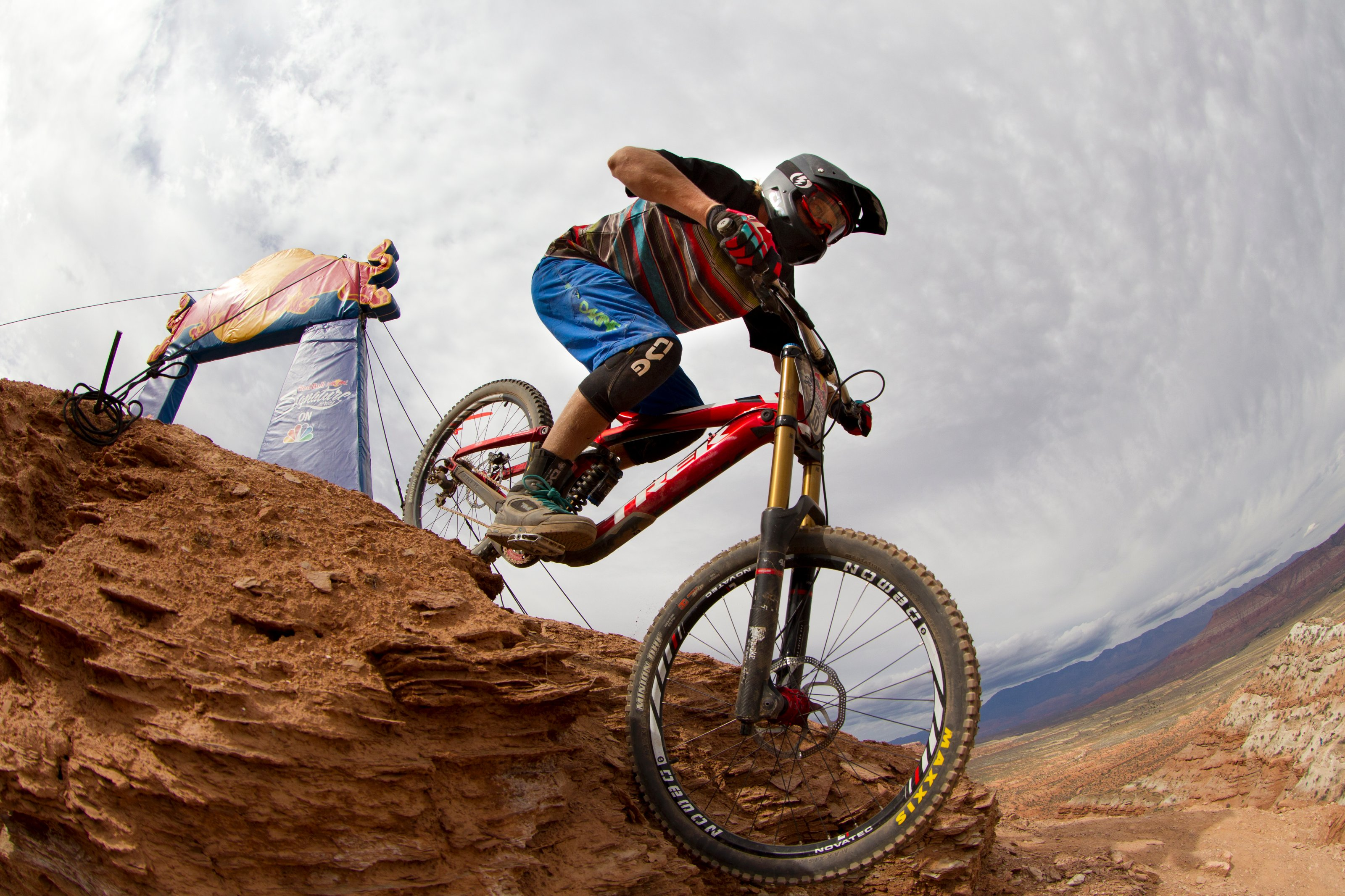 Ramon Hunziker takes a practice run at Red Bull Rampage, in Virgin, UT, USA, on 9 October, 2013. // John Gibson/Red Bull Content Pool // P-20131010-00014 // Usage for editorial use only // Please go to www.redbullcontentpool.com for further information. //