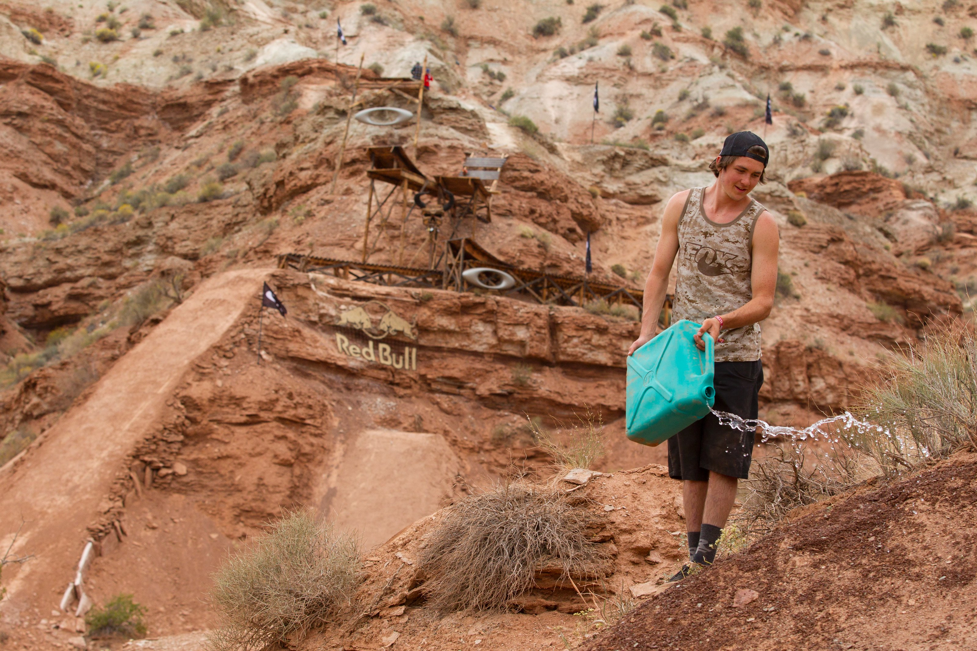Brendan Howey works on his line at Red Bull Rampage, in Virgin, UT, USA, on 9 October, 2013. // John Gibson/Red Bull Content Pool // P-20131010-00021 // Usage for editorial use only // Please go to www.redbullcontentpool.com for further information. //
