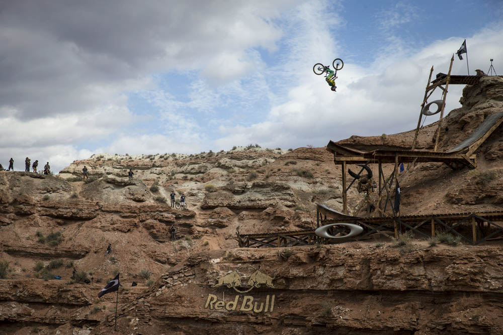 Cam Zink rides during Red Bull Rampage Finals in Virgin, Utah, USA, on 13 October 2013. // Christian Pondella/Red Bull Content Pool // P-20131014-00026 // Usage for editorial use only // Please go to www.redbullcontentpool.com for further information. //