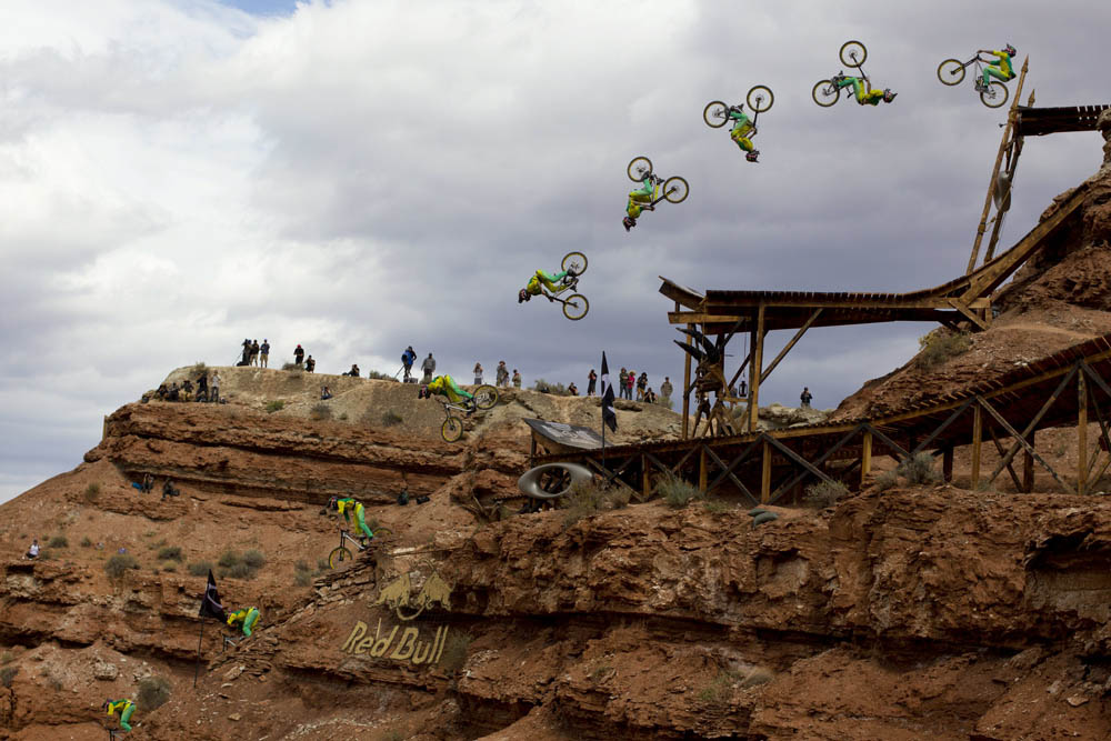 Cam Zink rides to a third place finish at Red Bull Rampage in Virgin, UT, USA on 13 October, 2013. // John Gibson/Red Bull Content Pool // P-20131014-00027 // Usage for editorial use only // Please go to www.redbullcontentpool.com for further information. //
