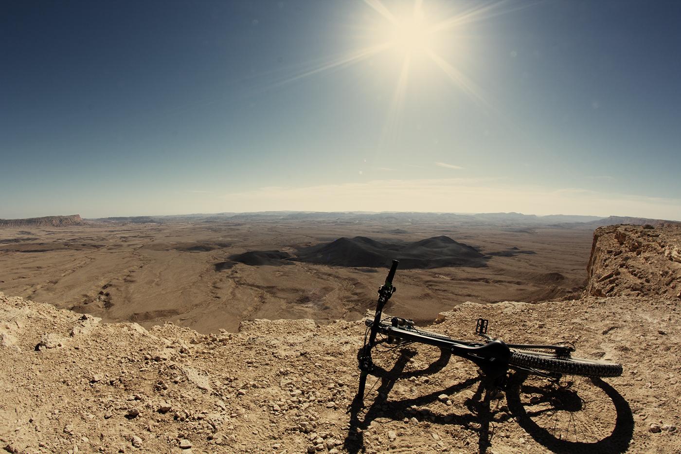 Kraterlandschaft am Israel Bike Trail