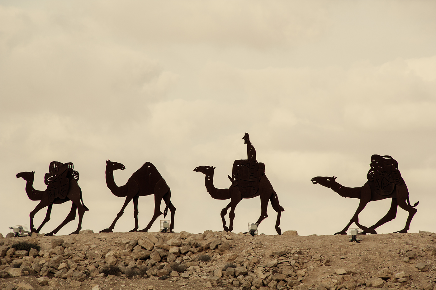 Just follow the camels!