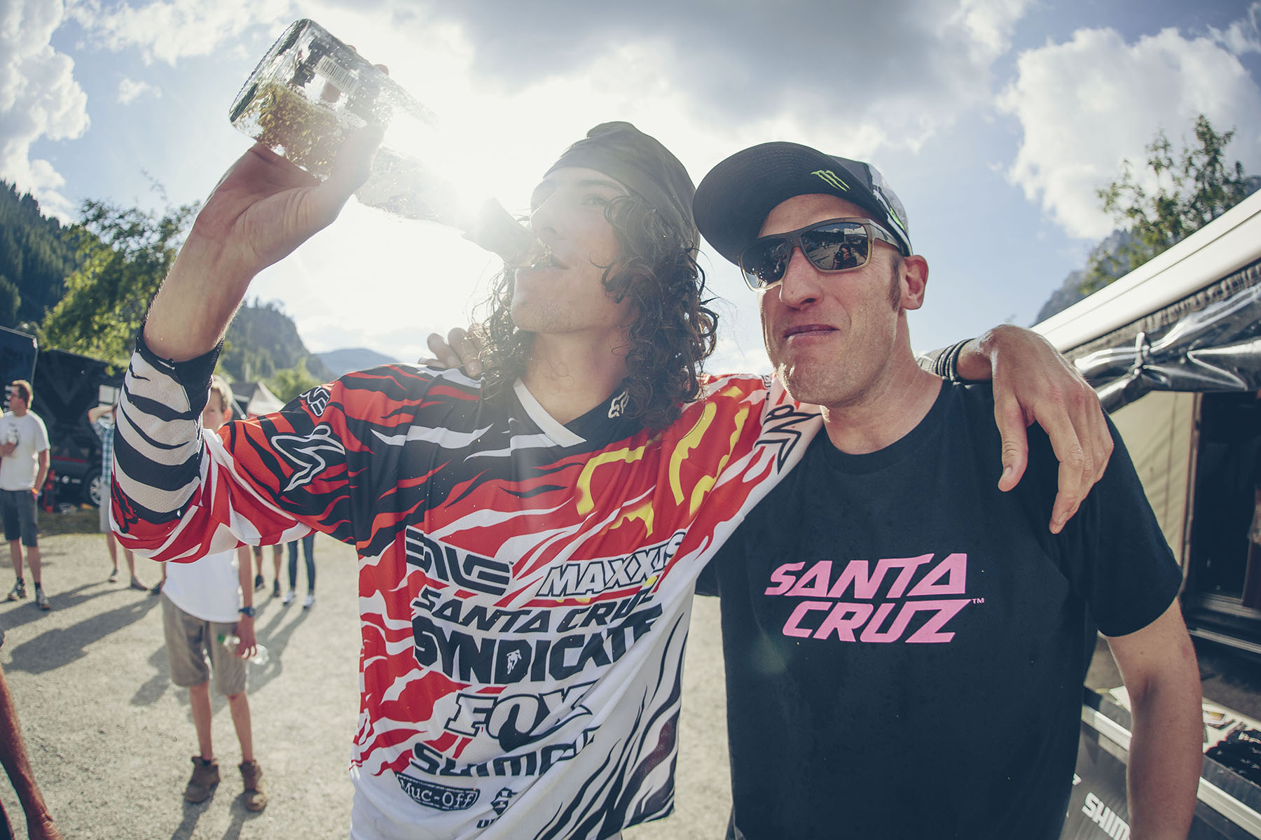 Steve Peat, although didn't personally score the result he wanted today, but made history today with Josh's win and Greg's 2nd. A longtime coming for both of these guys, Steve Peat is over the moon for him.