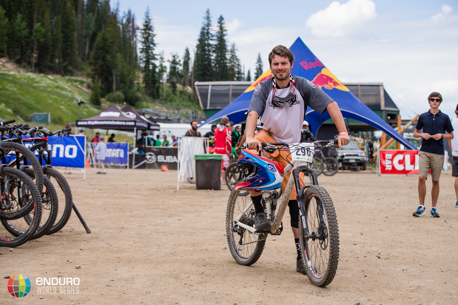 Filmmaker, John Parkin, took to the other side of the tapes this weekend, racing rather than filming. EWS 5 2014 Winter Park. Photo by Matt Wragg