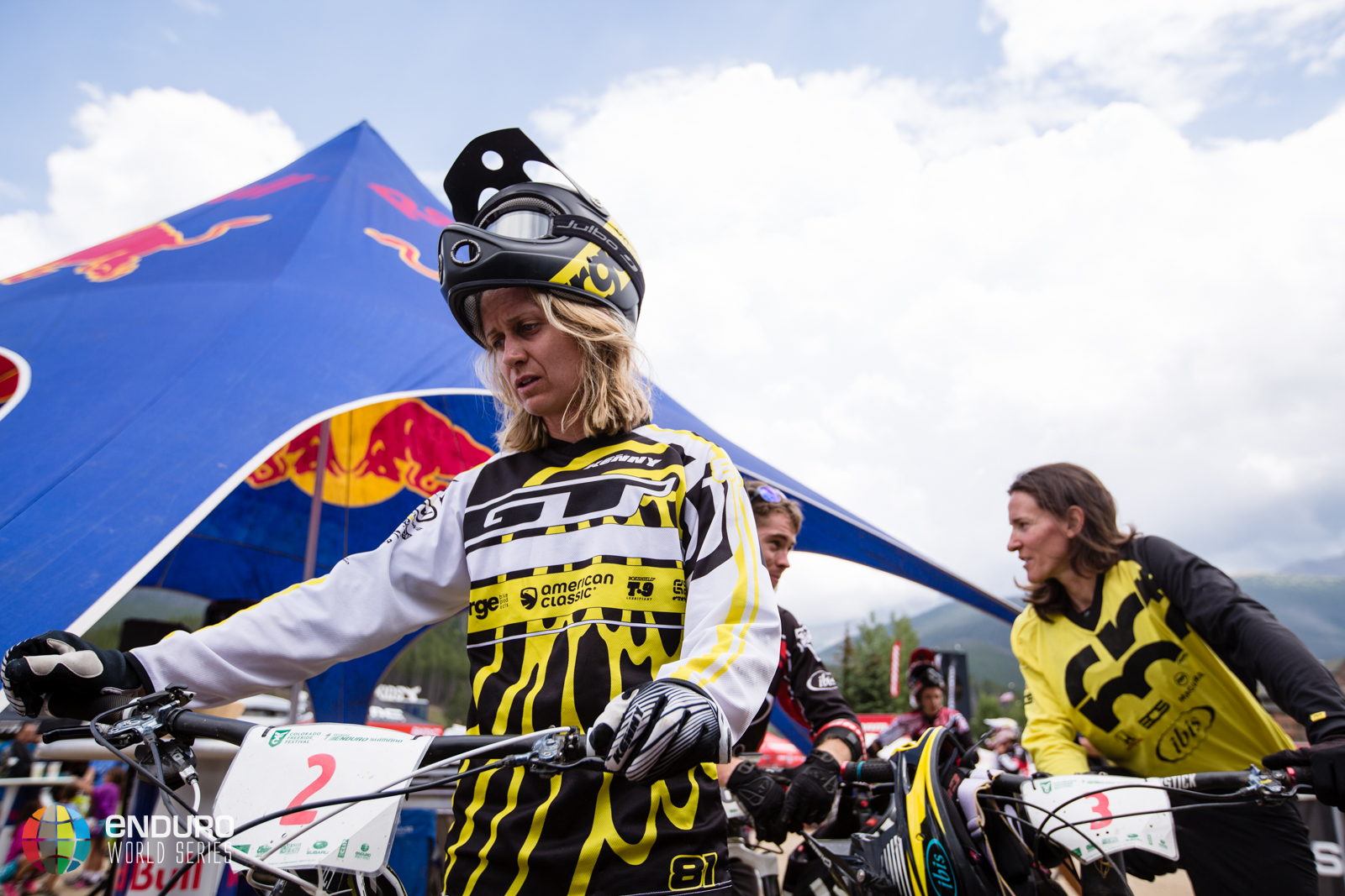 Ceclie Ravanel realises she has missed out on a podium spot this weekend. EWS 5 2014 Winter Park. Photo by Matt Wragg