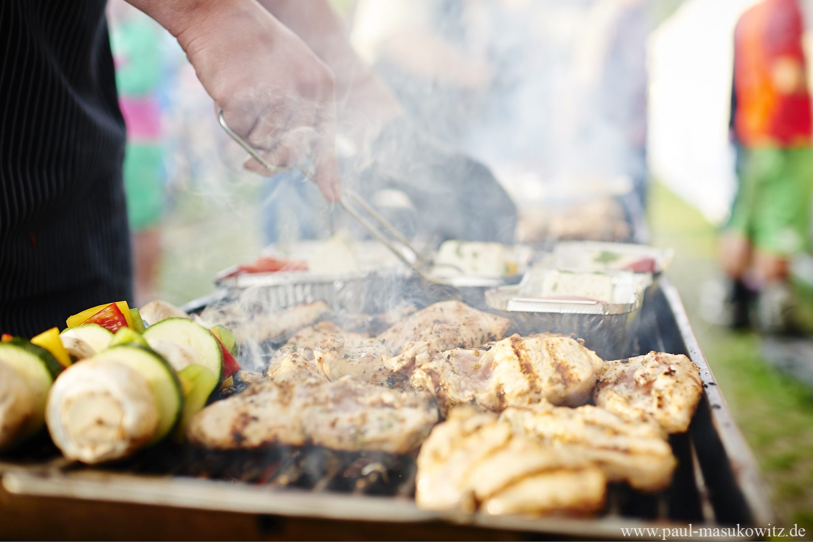 TrailTrophy in Rabenberg - Barbecue am Abend für ca. 250 hungrige Mäuler