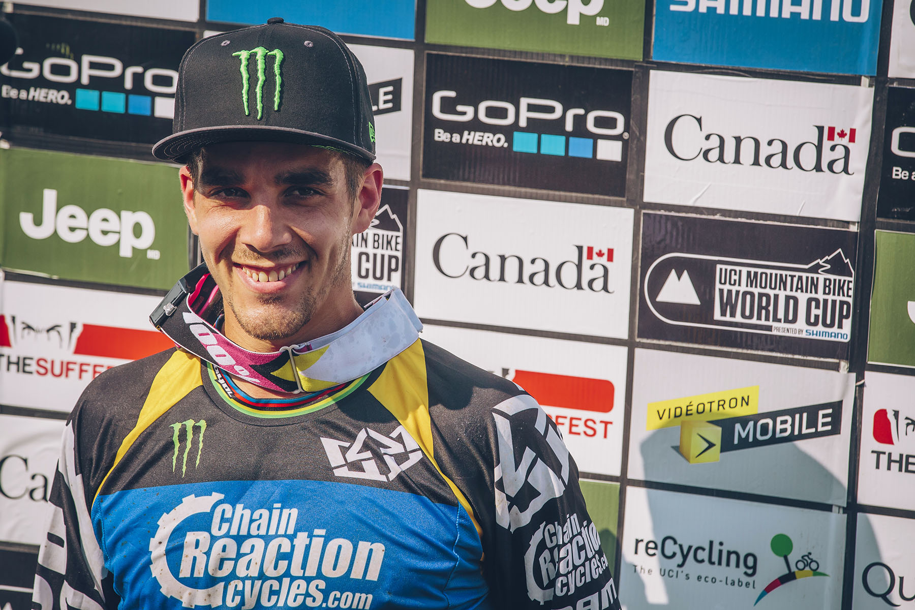 Big smiles all round from Sam and the team as he takes his first win under the wing of CRC.